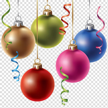 Christmas ornament Christmas decoration Public holidays in China, Colored Christmas balls transparent background PNG clipart png image transparent background