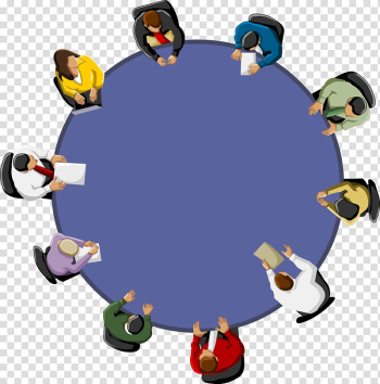 Group of people sitting on chairs in a round table , Meeting Office Table , Business people talking transparent background PNG clipart png image transparent background