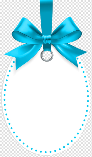 Blue ribbon illustration, Gift , Label with Blue Bow Template transparent background PNG clipart png image transparent background