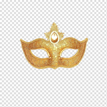 Gold masquerade mask, Mask Masquerade ball Gold Mardi Gras Costume, Golden goggles transparent background PNG clipart png image transparent background