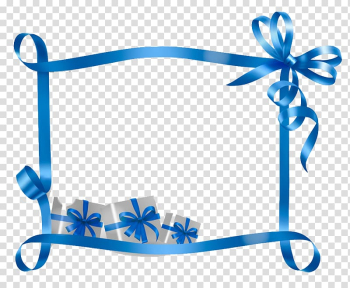Blue border decor, Christmas Name tag Gift Template Holiday, Blue ribbon gift decoration bar frame transparent background PNG clipart png image transparent background