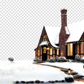 Snow-covered house , Snow Christmas Winter , Christmas transparent background PNG clipart png image transparent background