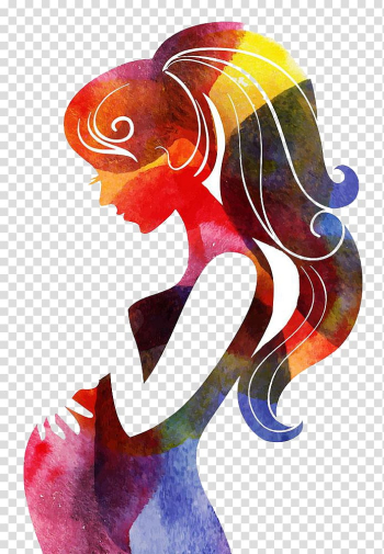 Female multicolored abstract illustration, Mother\'s Day Wish, Mother\'s Day poster transparent background PNG clipart png image transparent background