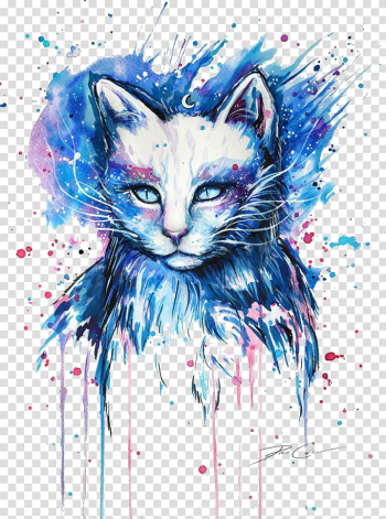Why Paint Cats Drawing Painting Art, Cat, multicolored cat painting transparent background PNG clipart png image transparent background