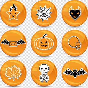 Halloween Sticker Icon, Halloween pumpkin icons transparent background PNG clipart png image transparent background