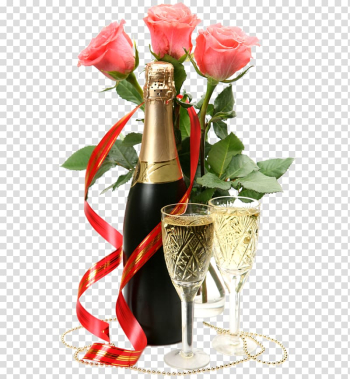 Wine glass with wine bottle, Champagne, Champagne Rose transparent background PNG clipart png image transparent background