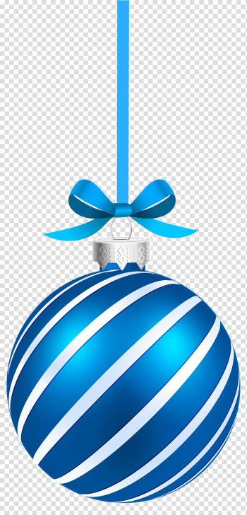 Blue and white bauble illustration, Christmas ornament Christmas decoration Santa Claus , Blue Sriped Christmas Hanging Ball transparent background PNG clipart png image transparent background