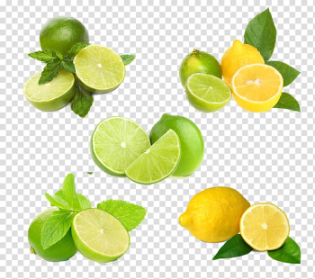 Green and yellow limes, Lemon-lime drink Key lime Fruit, Lemon HQ transparent background PNG clipart png image transparent background