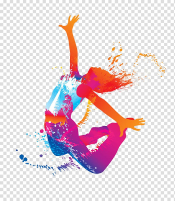 Hip-hop dance Silhouette Dance studio, Jumping woman, jumping person liquid illustration transparent background PNG clipart png image transparent background