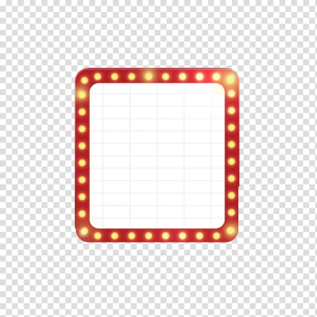 Red and white frame illustration, Billboard Neon sign Neon lighting, Neon signboard deduction material transparent background PNG clipart png image transparent background