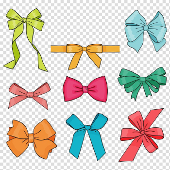 Assorted-color ribbons , Drawing Bow and arrow Gift , Bow transparent background PNG clipart png image transparent background