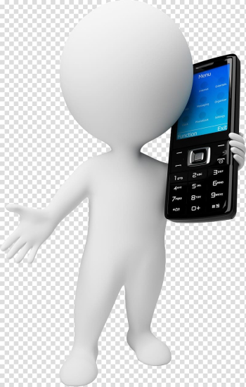 Mobile phone, The little white man calls the candy bar phone transparent background PNG clipart png image transparent background