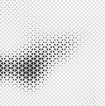 Black and white Geometry Geometric abstraction Pattern, Technology Triangle Cover, black and gray hexagonal screenshot transparent background PNG clipart png image transparent background