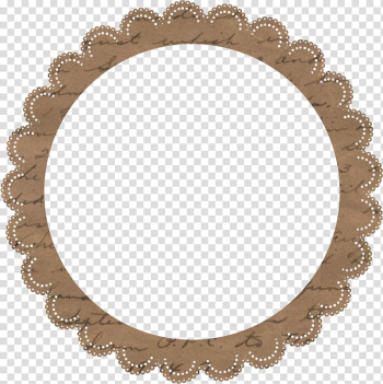 Round brown frame border, Baby shower Party favor Birthday Valentines Day Sticker, Brown lace ring transparent background PNG clipart png image transparent background