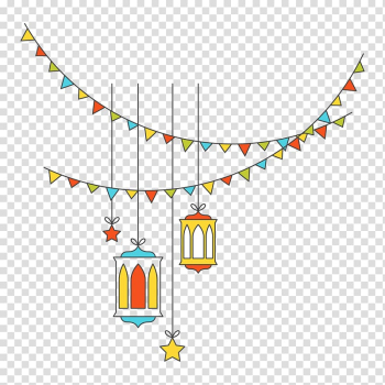 Buntings and hanging ceiling lamp sticker, Festival Light, Islamic New Year decorative lights flat transparent background PNG clipart png image transparent background