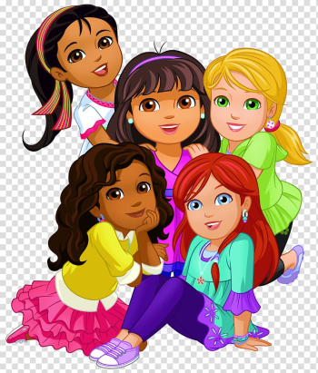 Dora the Explorer Dora and Friends: Into the City! , Dora and Friends , animated girls illustration transparent background PNG clipart png image transparent background