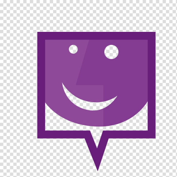 Smiley Speech balloon Icon, Purple smiley face on frame transparent background PNG clipart png image transparent background