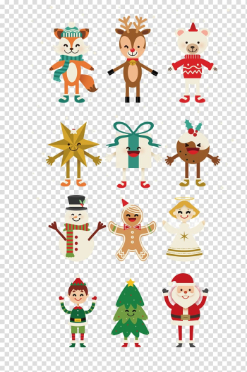 Christmas characters , Cartoon Christmas, cartoon snowman transparent background PNG clipart png image transparent background