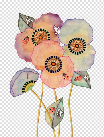 Painting Art Drawing Illustration, Colorful floral disc transparent background PNG clipart png image transparent background