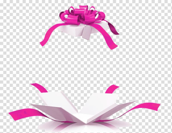 White and pink gift box illustration, Gift basket Box Tablet computer, Open gift box transparent background PNG clipart png image transparent background