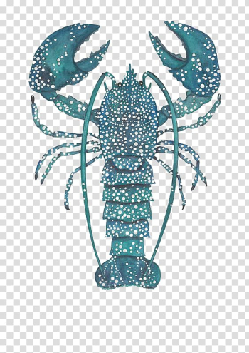 Lobster Watercolor painting Drawing Printing Illustration, Lobster deductible elements transparent background PNG clipart png image transparent background