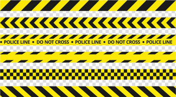 Black and yellow do not cross police line lot illustration, Police Line Do Not Cross Road traffic control device, yellow police tape transparent background PNG clipart png image transparent background