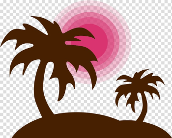 Paper Sticker Label Decal Printing, Brown coconut tree transparent background PNG clipart png image transparent background