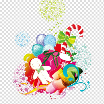 Christmas Balloon Gift, Creative Christmas transparent background PNG clipart png image transparent background