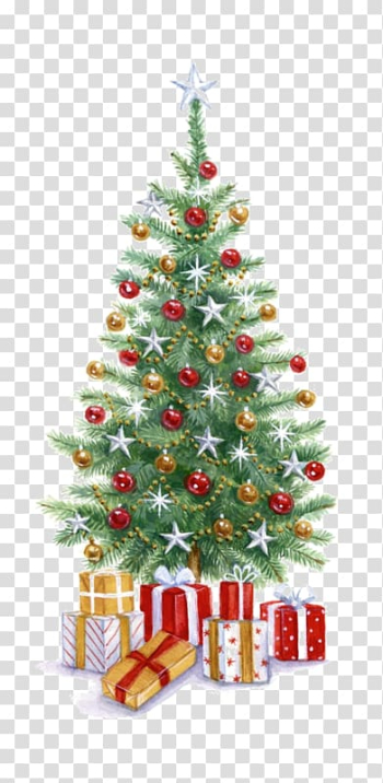 Christmas tree Christmas gift, Creative Christmas tree transparent background PNG clipart png image transparent background