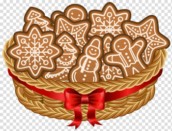 Ginger bread in bucket, The Gingerbread Man Cookie , Christmas Basket with Gingerbread Cookies transparent background PNG clipart png image transparent background