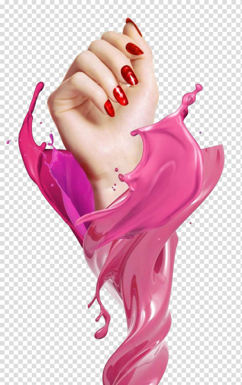 Pink manicure, Nail art Poster Gel nails Artificial nails, Colorful Nail transparent background PNG clipart png image transparent background
