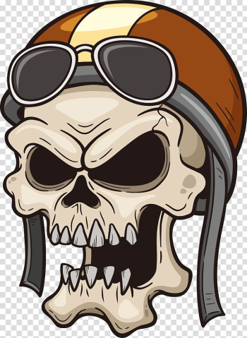 Skull rider illustration, Illustration, Pilot Skull transparent background PNG clipart png image transparent background