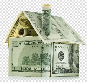 Money House Bank Home equity line of credit Saving, Dollar bills house transparent background PNG clipart png image transparent background