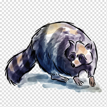 Raccoon Animal Adobe Illustrator, Black brown raccoon transparent background PNG clipart png image transparent background