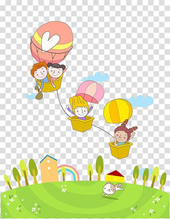 Three brown hot air balloon illustration, Hot air balloon , Kids hot air balloon transparent background PNG clipart png image transparent background