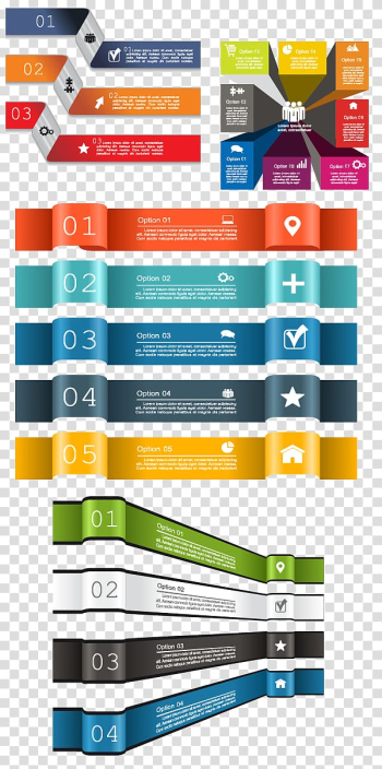 Assorted-color ribbon illustration, Chart Infographic, Creative Business infographic material transparent background PNG clipart png image transparent background
