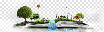 People on book illustration, book transparent background PNG clipart png image transparent background