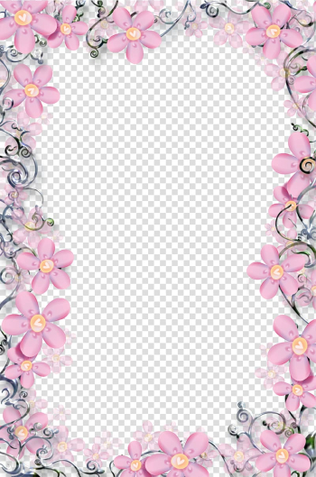 Flower frame, Floral frame template , pink flower arrangement transparent background PNG clipart png image transparent background