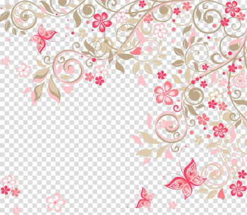 Wedding invitation Flower Rose , Romantic pink flowers background, of pink flowers artwork with blue background transparent background PNG clipart png image transparent background