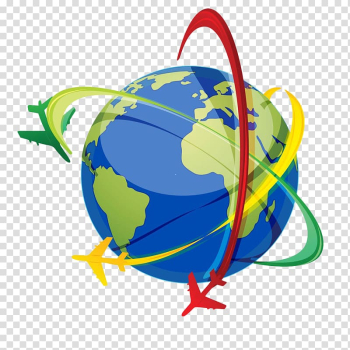 Airplane Computer Icons , Earth flying around the line transparent background PNG clipart png image transparent background