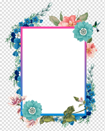 Borders and Frames Watercolor painting, Hand painted beautiful borders, illustration of floral frame transparent background PNG clipart png image transparent background