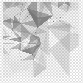 Euclidean Technology, Technology creative material, blue and black abstract transparent background PNG clipart png image transparent background