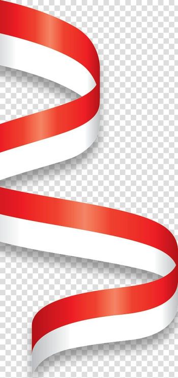 Red and white ribbon, Flag of Indonesia Indonesian Flag of Malaysia, Bendera transparent background PNG clipart png image transparent background