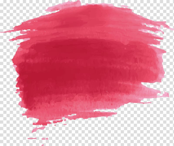 Watercolor painting Red, Red watercolor paint effect transparent background PNG clipart png image transparent background