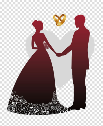 Wedding invitation Wedding reception Banner, Sweet Wedding, man and woman holding hands illustration transparent background PNG clipart png image transparent background