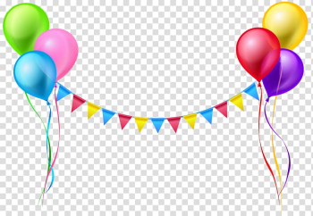 Balloon Serpentine streamer , Streamer and Balloons , assorted-color balloon artwork transparent background PNG clipart png image transparent background