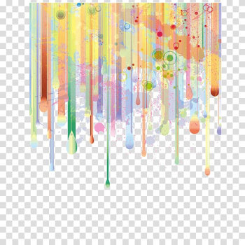 Watercolor painting Illustration, Gradient,Background decorative pattern,poster,banner background,line, red, yellow, and green abstract painting transparent background PNG clipart png image transparent background