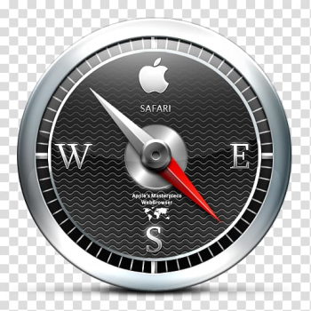 Safari Apple Icon format Icon, Black compass transparent background PNG clipart png image transparent background