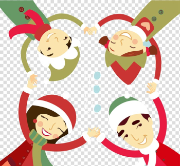 Illustration, Christmas Happy family background transparent background PNG clipart png image transparent background