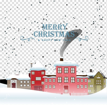 Christmas Snowflake Illustration, Warm Christmas town transparent background PNG clipart png image transparent background